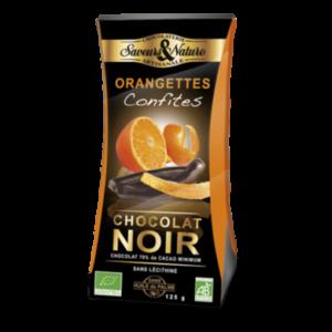 Orangette lamelle d'écorce d'orange enrobée de chocolat noir 125g - Cadobio