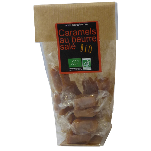 Caramels au beurre salé – bio – 100g